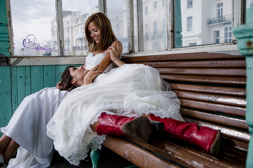 Rock and Roll Wedding Brighton Pier England UK | JOIE TAKAKI PHOTOGRAPHY | Artistic Destination Wedding Photographer