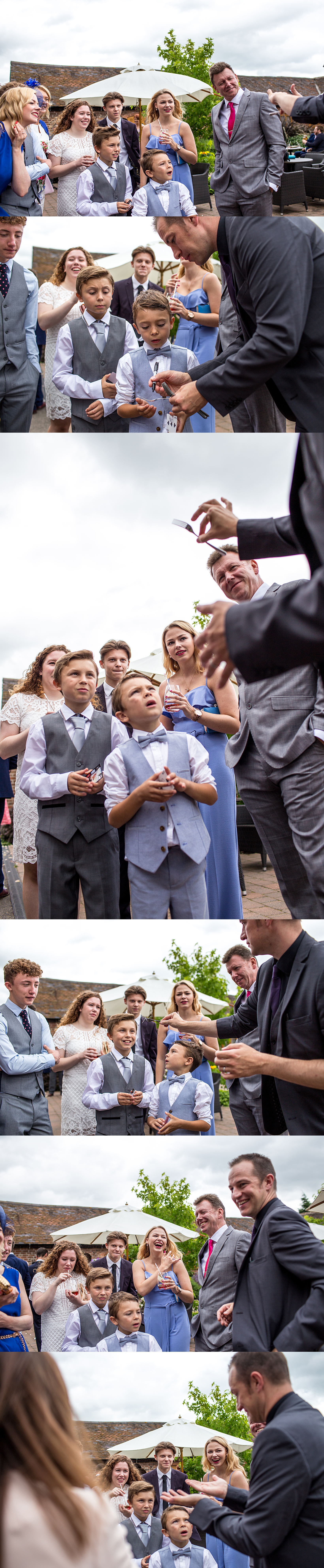 Witnessing The Magic at Weddings Nick Rushton The Magician UK by Joie Takaki Photography